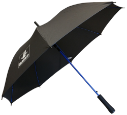 Umbrella black, Logo in silver